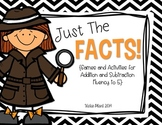 Just the Facts {Games and Acitivites for Common Core Fact Fluency to 5}