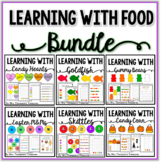 Learning With Food Activity Pack Bundle - Graphing, Sorting, Patterns & More