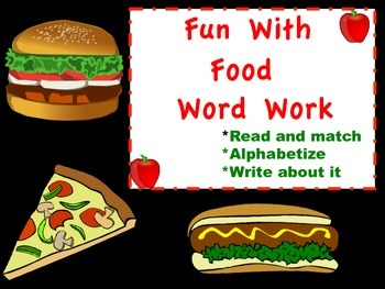 Fun With Food Word Work