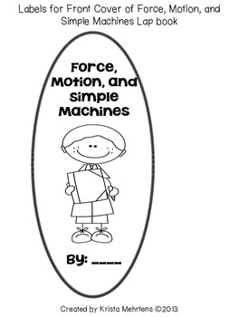 Fun With Force, Motion, and Simple Machine LapBook Unit