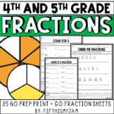 NO PREP Math // Fun With Fractions - NF Fourth & Fifth Grades