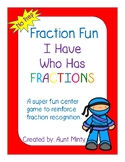 Fun With Fractions  I Have Who Has Fraction Edition  Center Game
