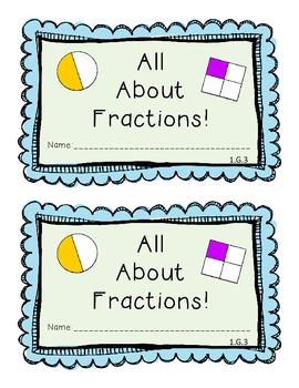 Fun With Fractions in First (CCSS Aligned)