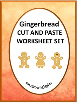 Gingerbread Man Christmas  Math & Literacy Cut and Paste, Special Education