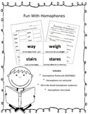 Fun With Homophones {EDITABLE}