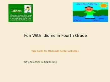 Fun With Idioms in Fourth Grade