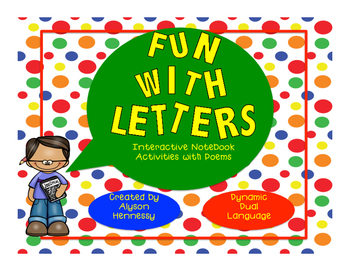 Fun With Letters! Interactive Notebook Poems