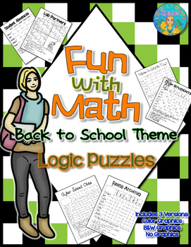 Fun With Math Back to School Theme Logic Puzzles