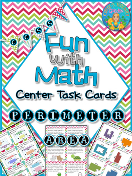 Fun With Math Center Task Cards Perimeter and Area Common Core Inspired
