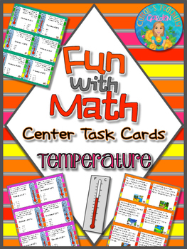 Fun With Math Center Task Cards Temperature Common Core Inspired