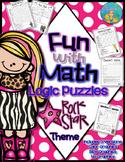 Fun With Math Rock Star Theme Logic Puzzles