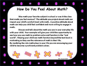 Parent Handout Fun With Math at Home