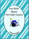 Musical Instruments Theme, Special Education Math and Literacy File Folder Games