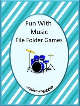 Music Math and Literacy File Folder Games For Interactive