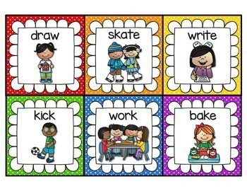 Parts of Speech Picture/Word Cards