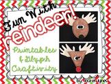 Fun With Reindeer! {Printables & Glyph Craftivity}