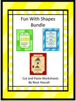 Shapes Bundles Math Literacy Centers Cut and Paste Special Education Fine Motor