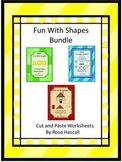 Shapes And Color, Cut and Paste, Shape Activities, Special Education, Autism