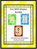 Shapes Bundle Color, Cut and Paste, Shape Activities, Special Education, Autism