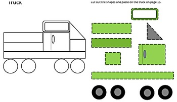 Shapes Cut and Paste,Shapes Matching Worksheets,Special Education, Kindergarten