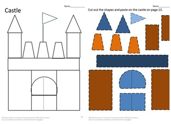 Cut and Paste: Shapes (preschool) -b/w | abcteach