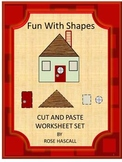 Shapes Cut and Paste, Shapes Math Centers,Special Education, Kindergarten