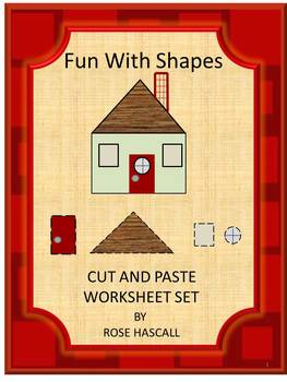 Shapes Kindergarten Preschool Cut and Paste Matching Works