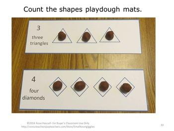 Games-Fun with Shapes Playdough Mats