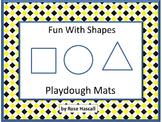 Shapes Play Dough Mats Fine Motor Skills Kindergarten Special Education