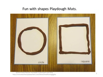 Shapes Play Dough Mats Fine Motor Skills Kindergarten Special Education