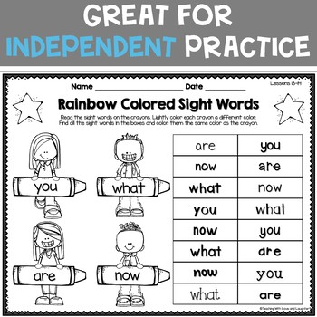 Sight Words Printables {For Use With Kindergarten Journeys}