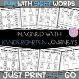 Sight Word Printables {For Use With Kindergarten Journeys}