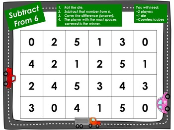 Fun With Subtraction Facts (0-0 through 10-5)