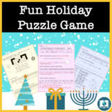 Fun Word Puzzle Game for Middle & High School: Christmas &