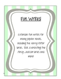 Fun Writes! Writing extension tasks for novels
