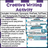 Fun Word Study Activity for Distance Learning (affixes, homophones practice)