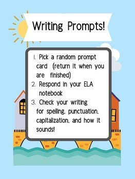 Fun Writing Prompt Cards!