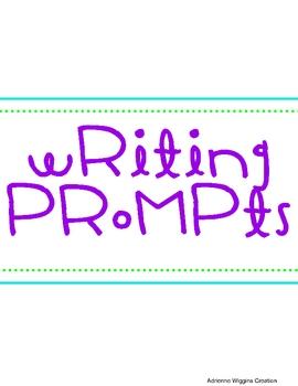 Fun Writing Prompts (w/ Writing Lines)