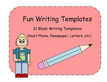 Fun Writing Templates