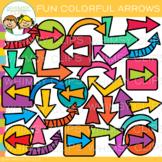 Fun and Bright Arrows Clip Art