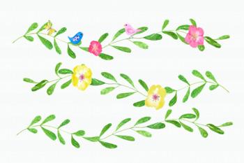 Fun and Bright Watercolor Clip Art Set