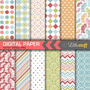 Fun and Colorful Digital Papers