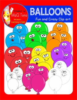 Fun and Crazy Balloons Clipart