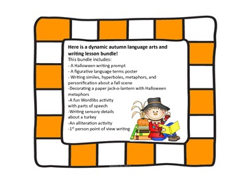 Fun and Creative Autumn Writing and Figurative Language Activities