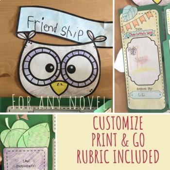 Owl Book Report Lap Book
