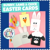 Fun and Easy Easter Cards | Bunny, Chick and Lamb Card