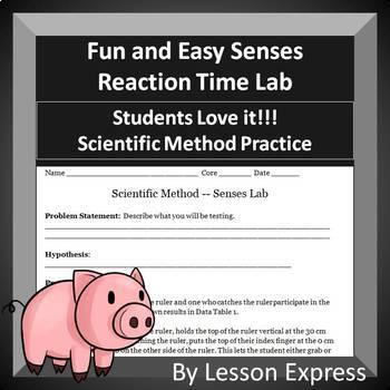 Senses Reaction Time Lab -- Scientific Method Practice