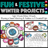 Winter Activities - Fun and Festive Rhyming, Sight Words + Addition