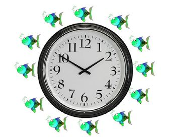 Fun and Fishy Clock Labels
