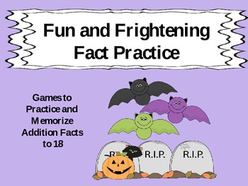 Fun and Frightening Halloween Addition Fact Practice